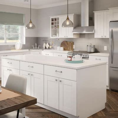 Kitchen Cabinets Color Gallery At The Home Depot Cheap White Kitchen Cabinets