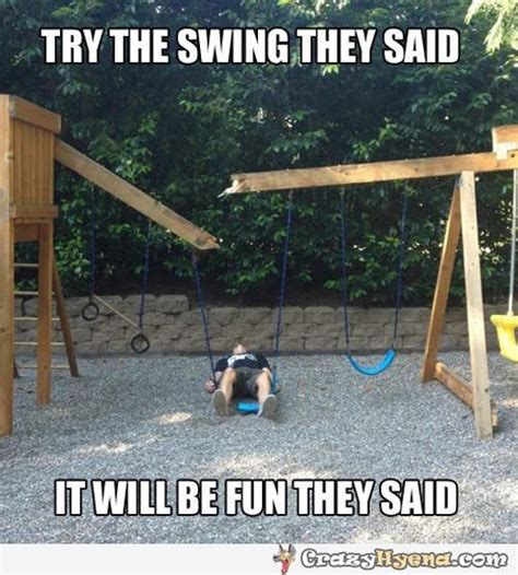 is swinging fun try the swing they said