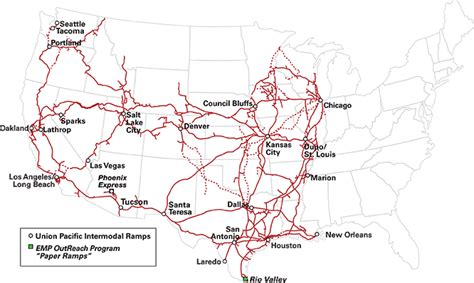 union pacific railroad map texas loup intermodal facilities r information