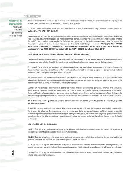 art 477 y 478 del estatuto tributario nacional et cartilla iva 2011