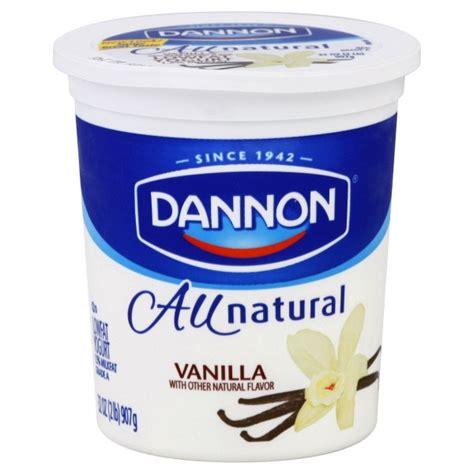 dannon all natural yogurt vanilla low fat