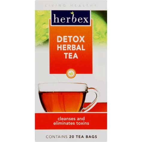 Detox Herbal Tea Herbex by Herbex Detox Herbal Tea 20 Tea Bags Clicks