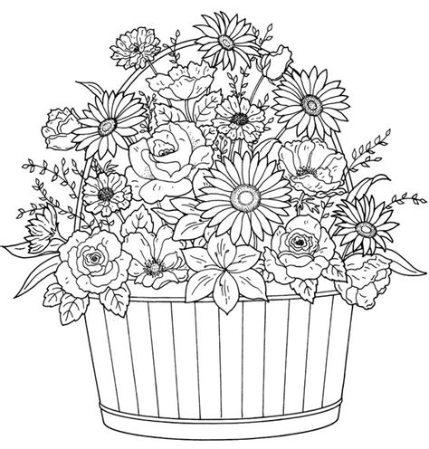 types of flowers coloring pages 217 best coloring pages images on pinterest coloring