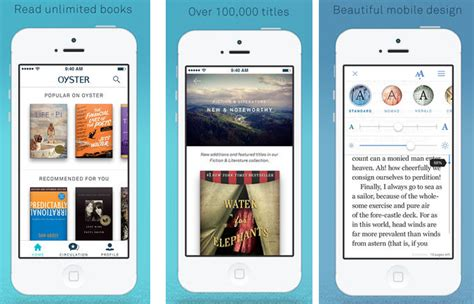 book reader apps oyster is an unlimited book reading app the gadgeteer