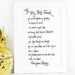 gift poem best friend poem gift by de fraine design