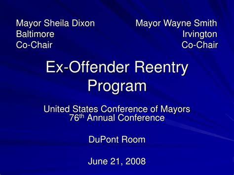ppt ex offender reentry program powerpoint presentation