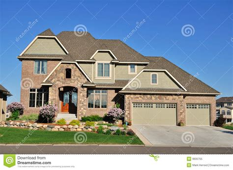 story homes luxury two story suburban executive home stock image