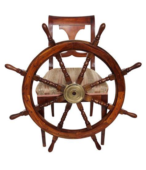 volante della nave volante della nave legno ottone ruota barca 92 centimetri