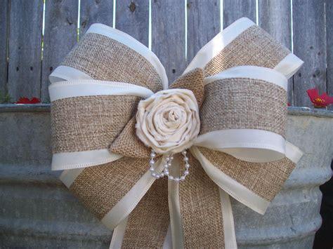 burlap and satin bows burlap wedding aisle decor rustic