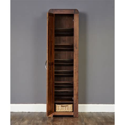 walnut shoe storage shoe storage cupboard baumhaus shiro walnut cdr20e