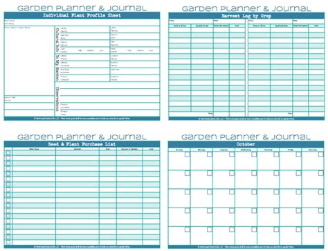 garden planner free printable 5 best images of free printable garden journal templates
