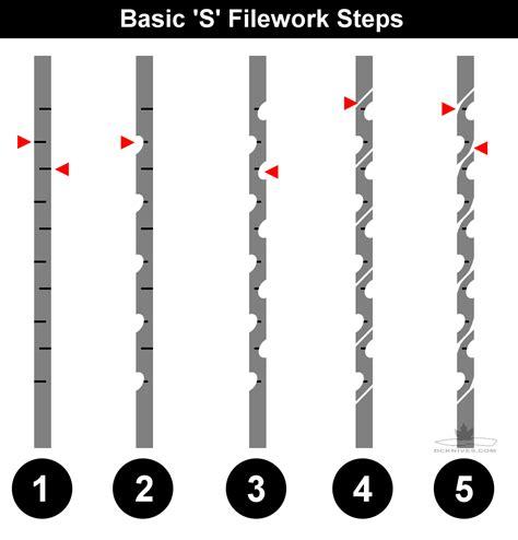filework on knives diy knifemaker s info center basic filework s pattern