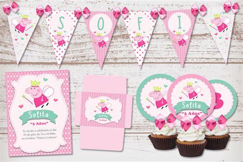 kit imprimible de peppa pig kit imprimible peppa pig hada para cumplea 241 os de nena kits imprimibles para decoraci 243 n fiestas