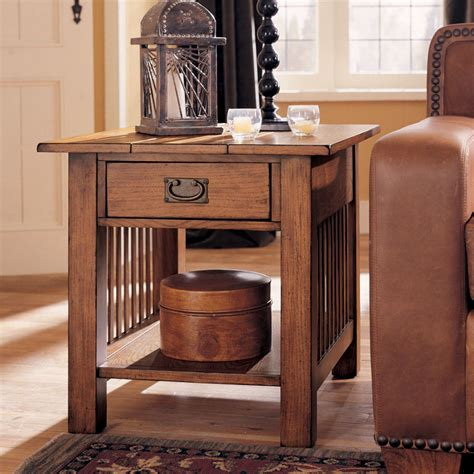 Distressed Coffee Table Set Distressed Oak 3 Pc Mission Coffee Table Set Ebay