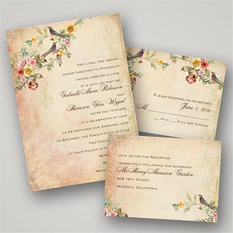 vintage wedding invitations invitations by vintage wedding invitation collection
