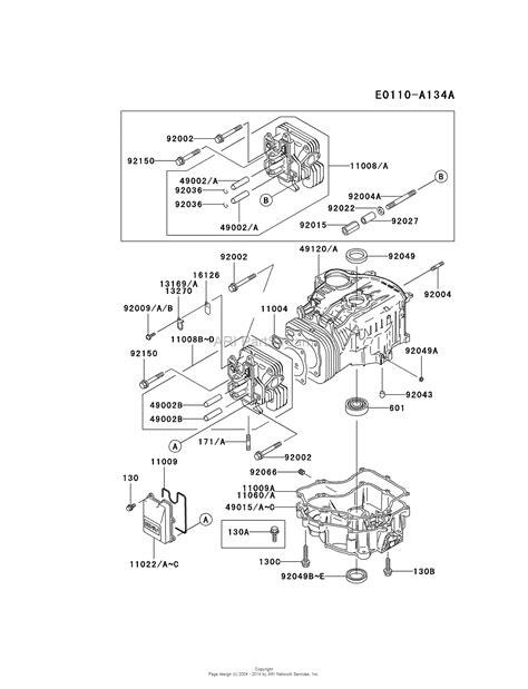 Kawasaki Fc540v Parts by Kawasaki Fc540v Cs03 4 Stroke Engine Fc540v Parts Diagram
