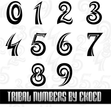 the number 3 tattoo designs tribal numbers by ekoed on deviantart