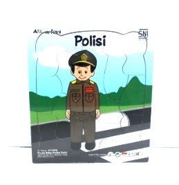 Mainan Edukatif Edukasi Anak Puzzle Stiker Hewan Ternak Peternakan puzzle stiker profesi polisi mainan kayu edukasi anak