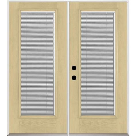 fiberglass patio doors with blinds shop benchmark by therma tru 70 5625 in blinds between the