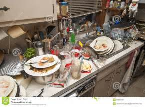 All Metal Kitchen Faucet dirty dishes stock photo image 28661880