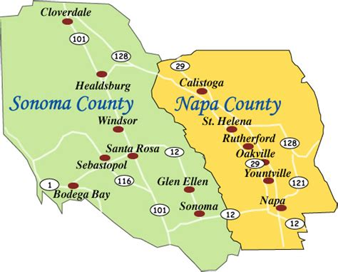 california map napa sonoma vineyards and wineries for sale information napa and