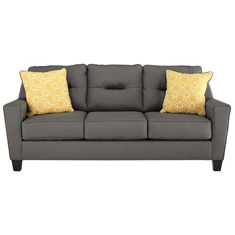 benchcraft furniture benchcraft forsan nuvella 6690238 contemporary sofa in