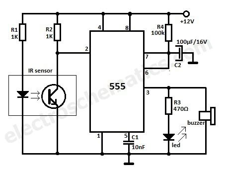 motion detector alarm circuit
