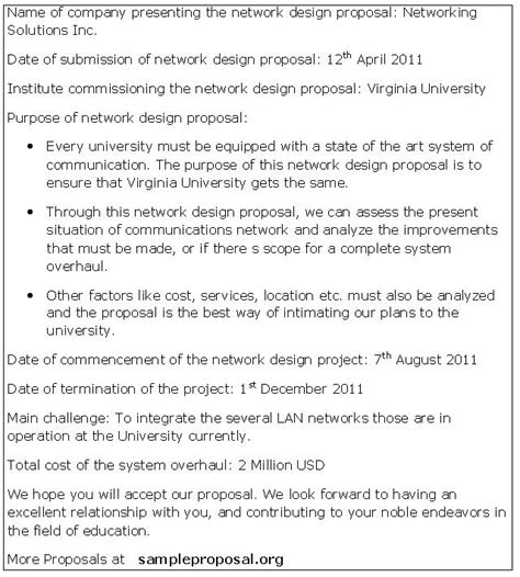Network Design Proposal Sle Proposals Network Design Document Template