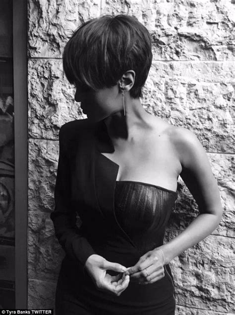 trimmed hair down there hate it or love it tyra banks debuts pixie haircut