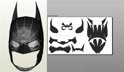 Topeng Batman Justice League Mask papercraft pdo file template for batman arkham origins