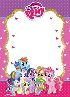 my pony birthday card template free printable my pony invitations printables