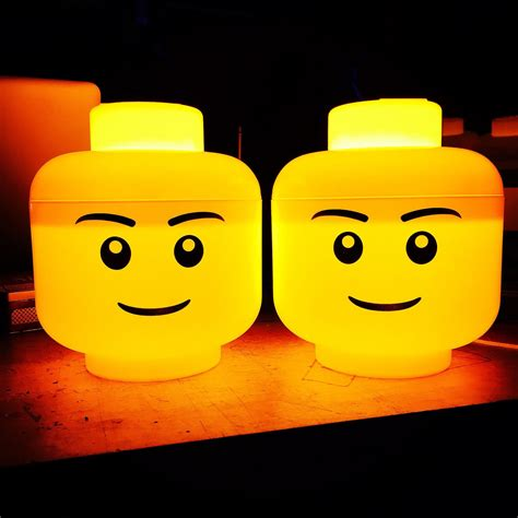 Lego Mini Figure Head Night Light L By Asbeau Boys And Boys Lights