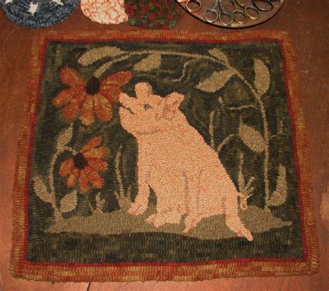 punch needle rug hooking kits primitive punch needle pattern quot maximus snifficus quot ebay