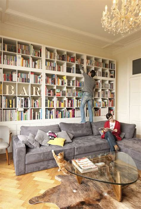 Ikea Home Library Design Stacked Ikea Kallax Expedit Shelves It S All About