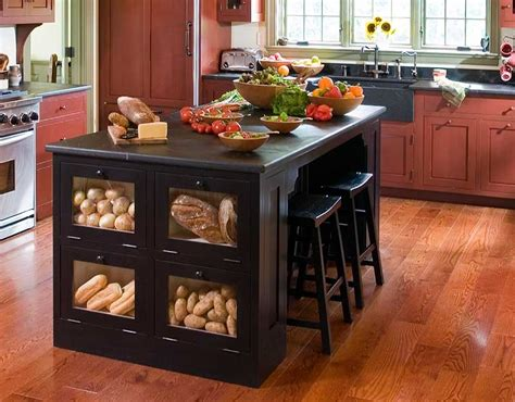islands for kitchens with stools 1000 ideas about bread storage on cabinets