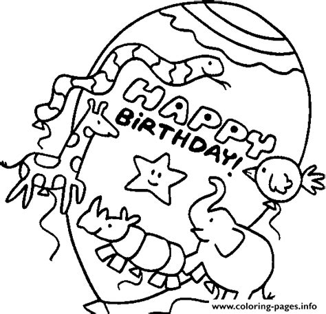 happy birthday animal coloring pages animals happy birthday balloons s10f8 coloring pages printable