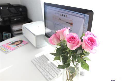 diy home desk flowers a pair a spare