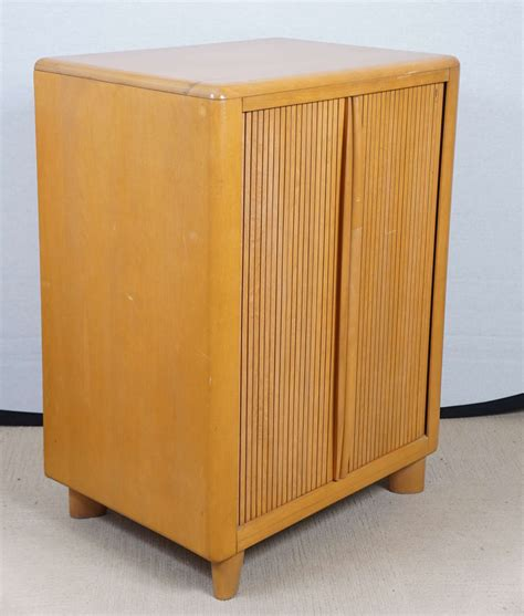 Tambour Door Cabinet Heywood Wakefield Tambour Door Cabinet At 1stdibs