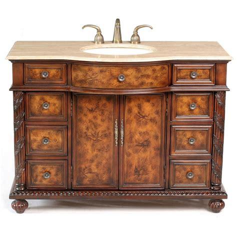 """Amelia 48"""" Traditional Single Sink Bathroom Vanity with"""