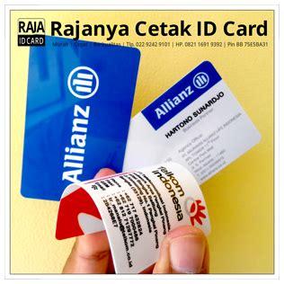 Kartu Id Card cetak kartu nama id card biasa cetak kartu plastik pvc
