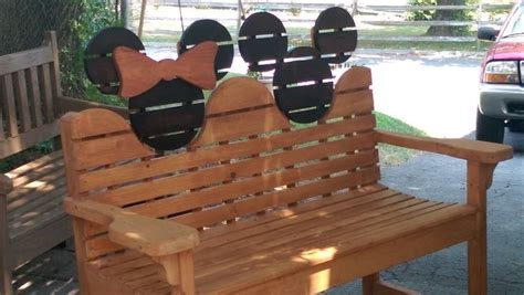 mickey mouse work bench custom made mickey mouse glider bench by davis custom