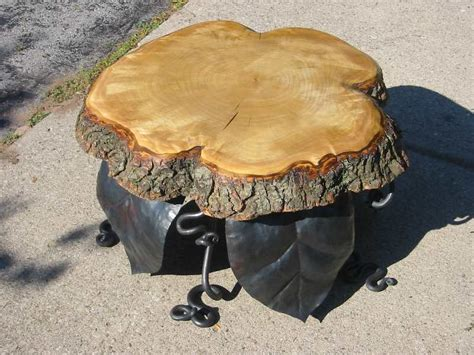 tree section table peffers plane anvil ltd blacksmith cabinetmaker