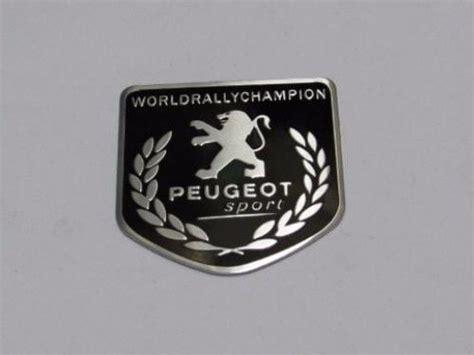 Emblem Tulisan Peugeot Ukuran 815cm emblem peugeot wrc ukuran 5x5cm