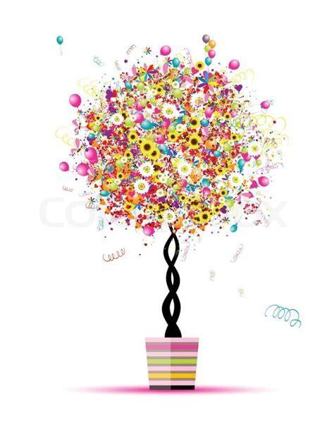 Happy holiday, funny tree with     Stock Vector   Colourbox