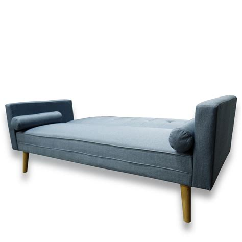 flip down sofa bed amy brand new blue or grey fabric click clack sofa bed