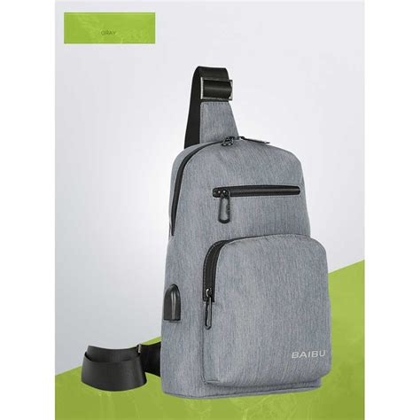 Tas Selempang Sling Bag Pickyourdenim Portand Grey baibu tas selempang sling bag kasual j51 l9 z50 gray jakartanotebook