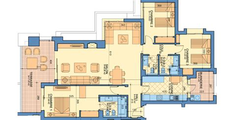 appartement 3 chambre plan appartement type a 3 chambres prestigia luxury