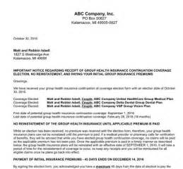 Health Insurance Marketplace Letter To Employees Cobraman Cobra Resources