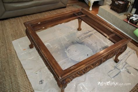 Coffee Table Turned Ottoman Thrift Store Coffee Table Turned Diy Tufted Ottoman Artsy Rule 174