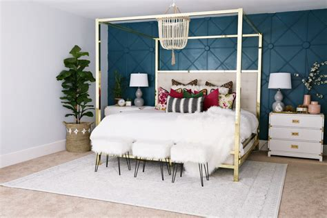 accent wall in master bedroom master bedroom makeover with awesome accent wall classy clutter